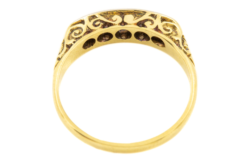 Edwardian 18ct Gold Five Stone Diamond Ring (0.2ct)