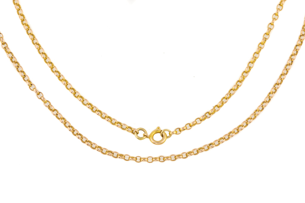 "Antique Rose Gold Belcher Chain, 20 & 5/8"" (5.9g)"