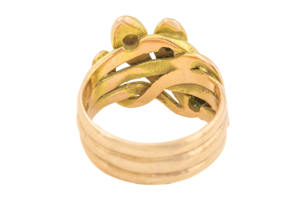 Victorian Revival Gold Snake Ring