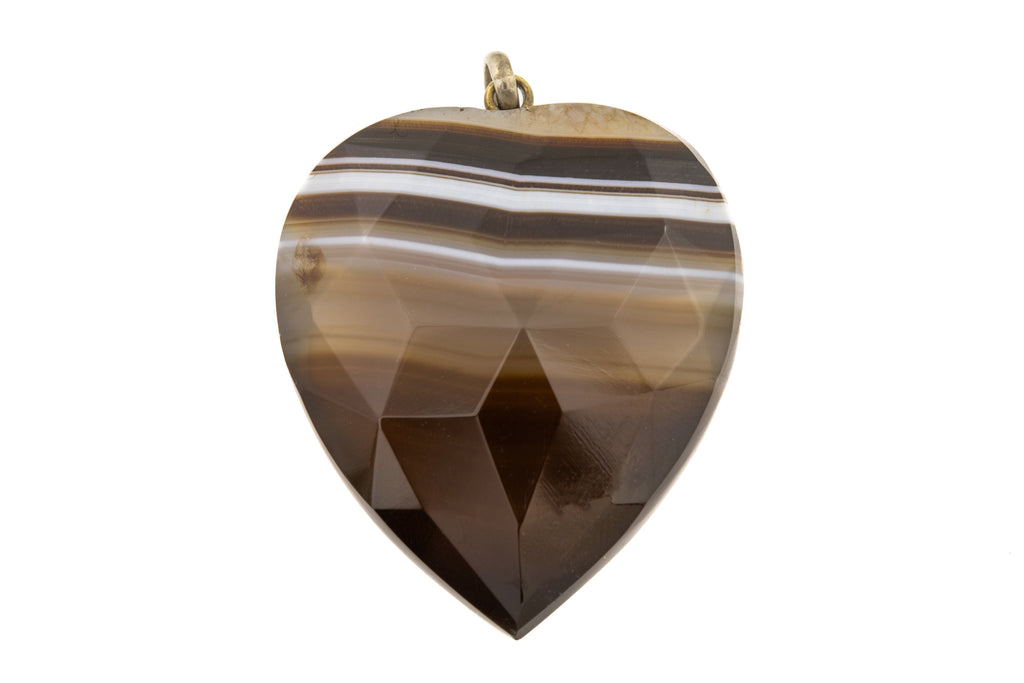Antique Agate Heart Pendant (22.3g)