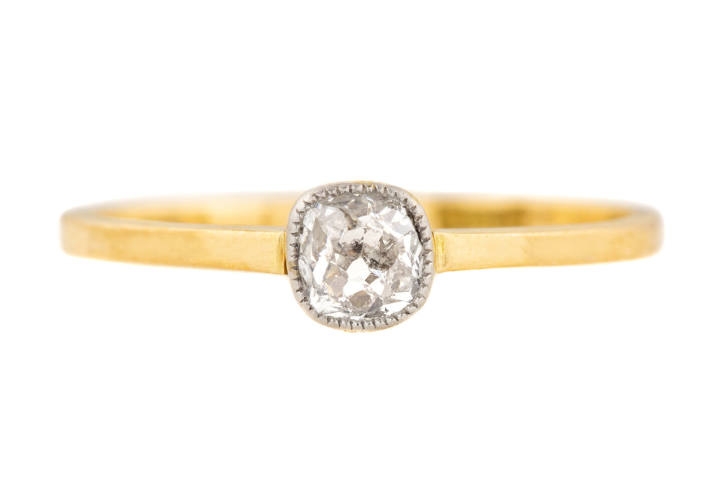 Art Deco 18ct Gold Diamond Solitaire Ring (0.20ct)