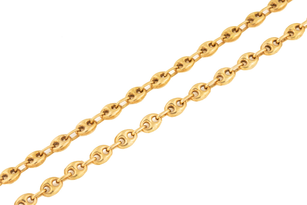 "Antique Gold Anchor Link Chain, 24 & 1/2"" (18g)"