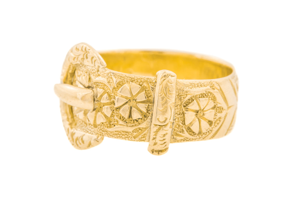 Antique Gold Buckle Ring c.1918