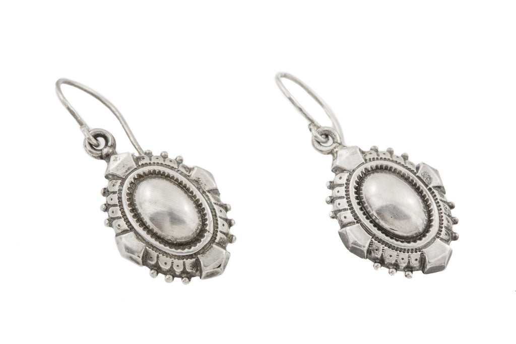 Victorian Aesthetic Silver Earrings