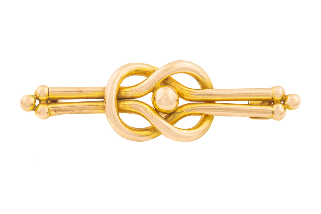 Antique Gold Knot Brooch