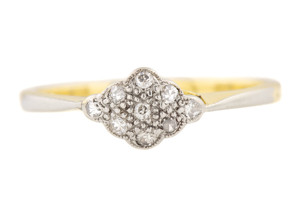 15ct Gold Art Deco Diamond Cluster Ring