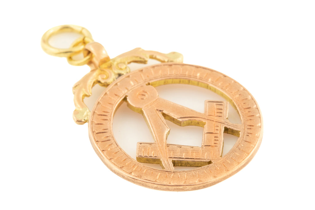 Art Deco Gold Masonic Pendant c.1920