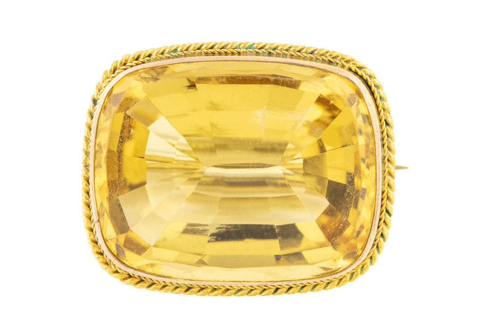 Antique Gold Citrine Brooch (12ct)
