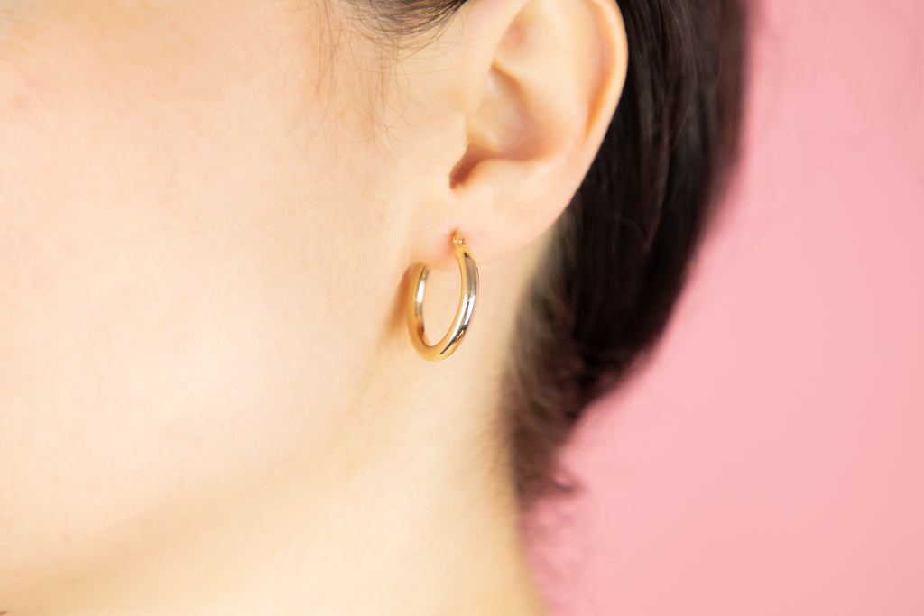 14ct Gold Hoop Earrings (21mm)