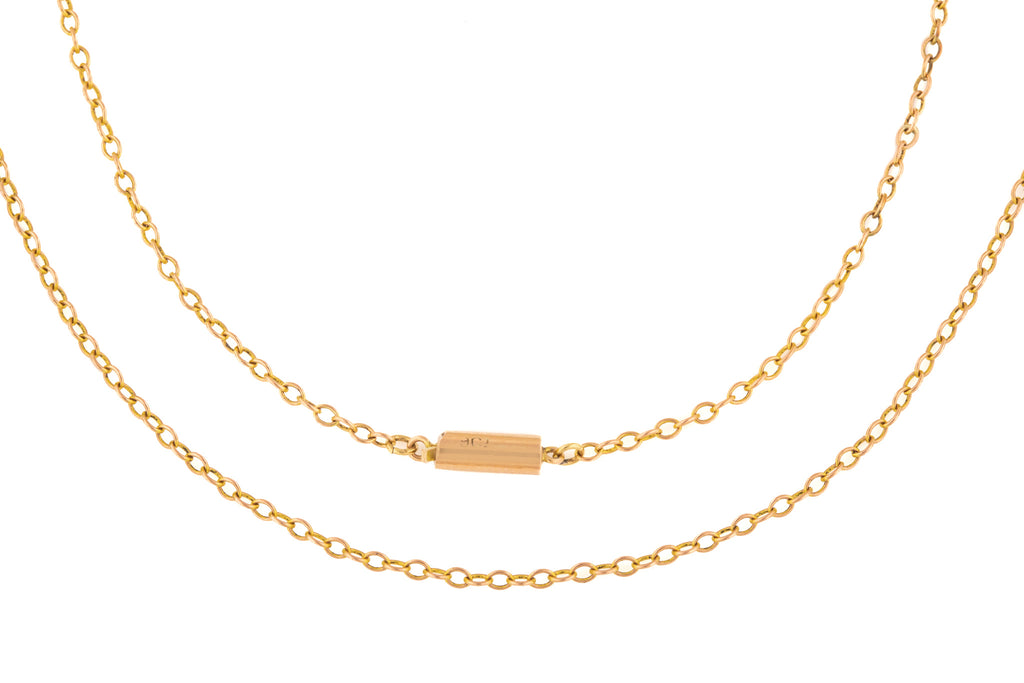"Victorian Gold Pendant Chain with Barrel Clasp, 18"" (1.9g)"