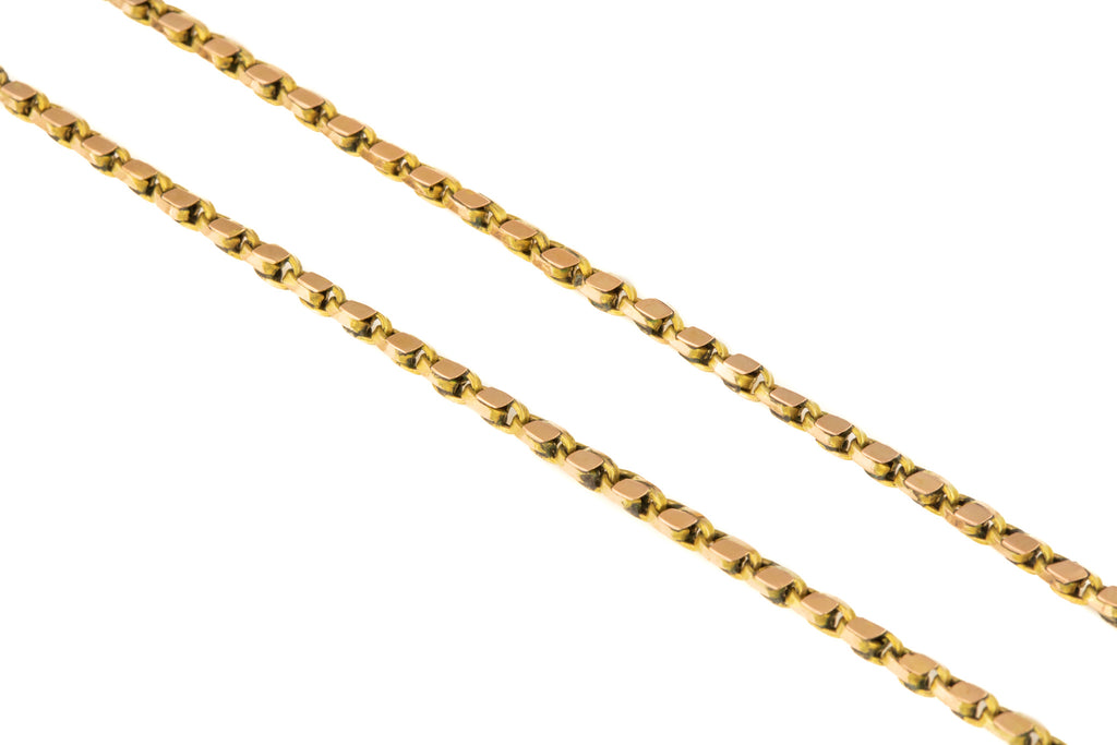 "Antique Gold Tulip Chain with Dog Clip, 28 & 1/4"" (11g)"