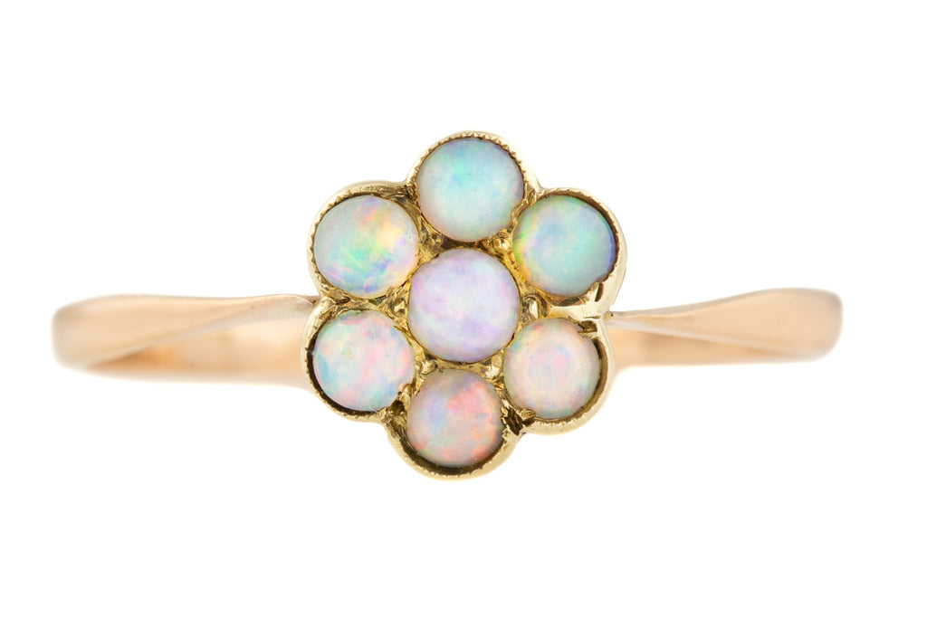 9ct Gold Opal Cluster Ring (0.35ct)