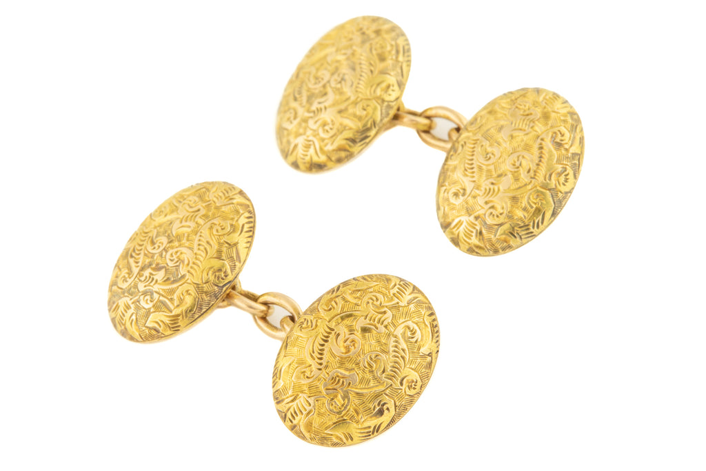 Antique 15ct Gold Ornate Cufflinks