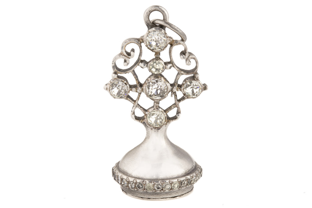 19th Century Silver Paste Fob
