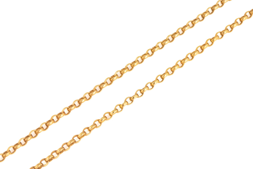 "Victorian Gold Belcher Chain with Dog Clip, 31"" (10.6g)"