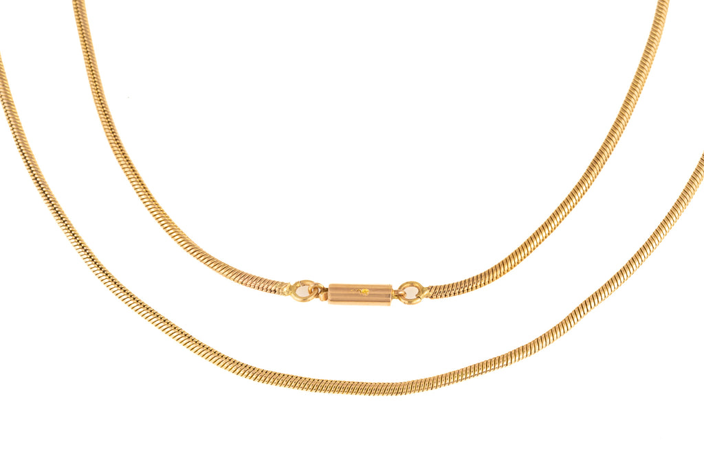"Antique Gold Snake Chain, 16"" (7g)"