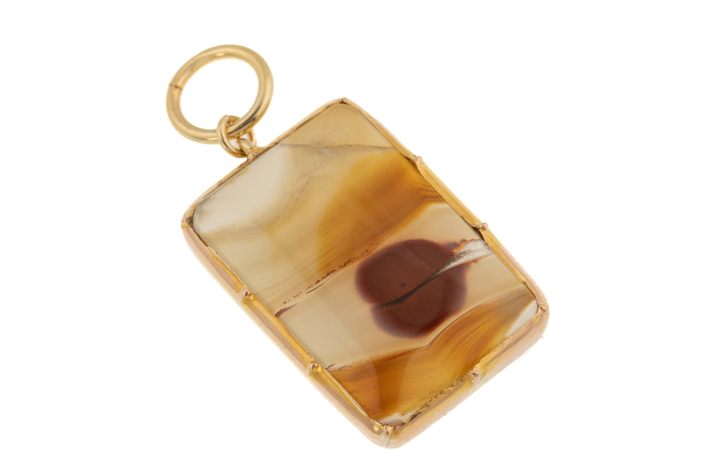 12ct Gold Georgian Agate Pendant