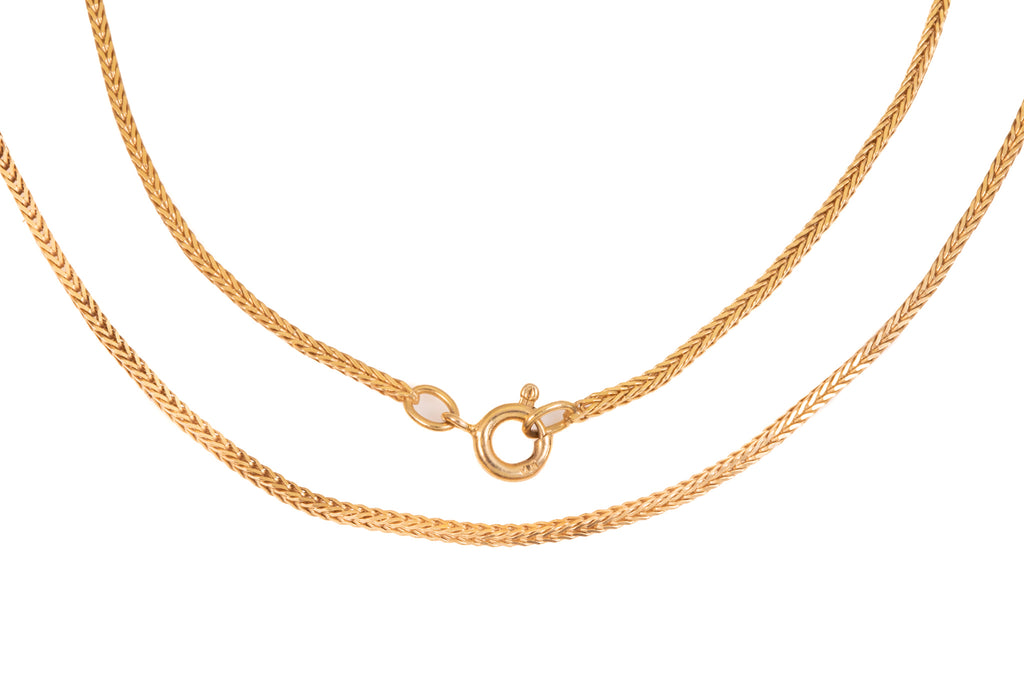 "Gold Foxtail Chain, 18"" (4.2g)"