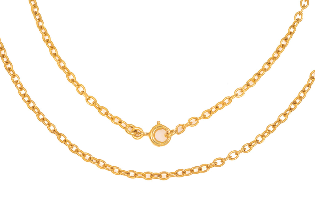 "Antique French 18ct Gold Chain, 18"" (7.1g)"