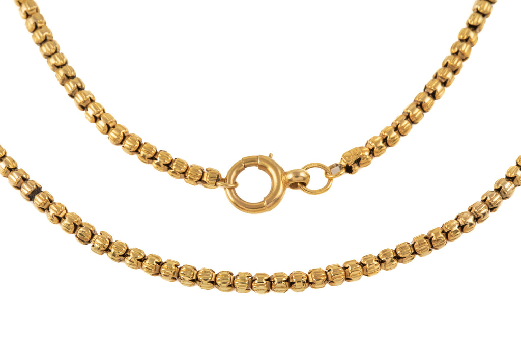 "Victorian Yellow Gold Fancy Chain, 15 & 3/8"" (11g)"