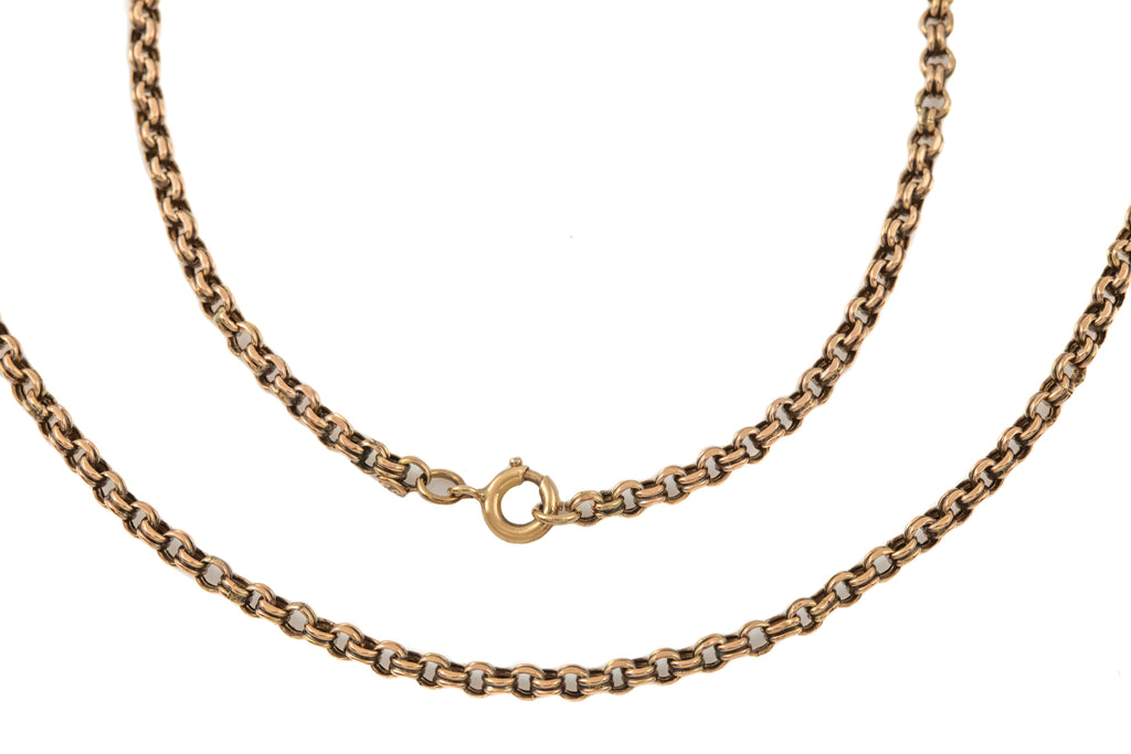 "Victorian Gold Double Belcher Link Chain, 18 & 1/3"" (7g)"