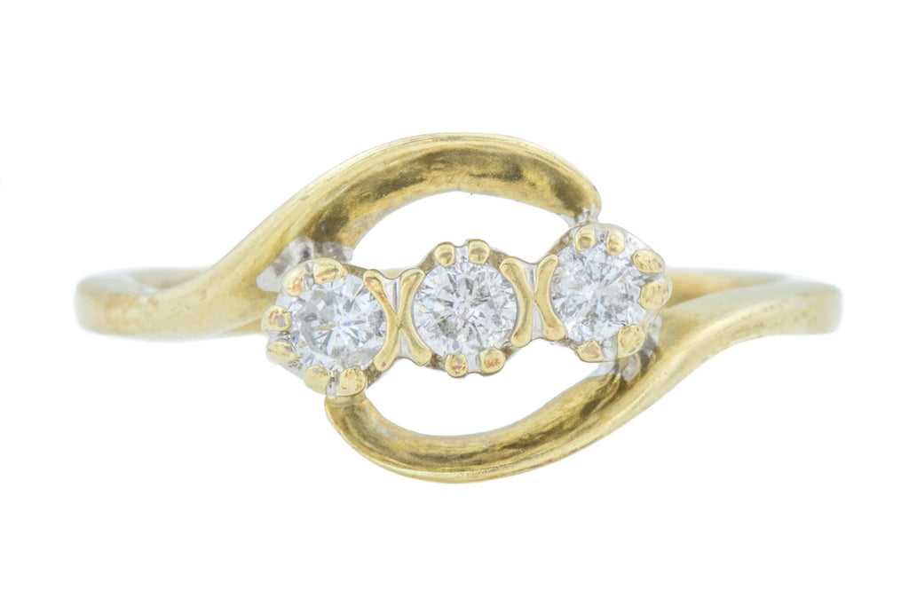 9ct Gold Diamond Trilogy Ring