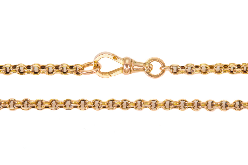 "Victorian Gold ""Double Link"" Belcher Chain, 21"" (13.7g)"