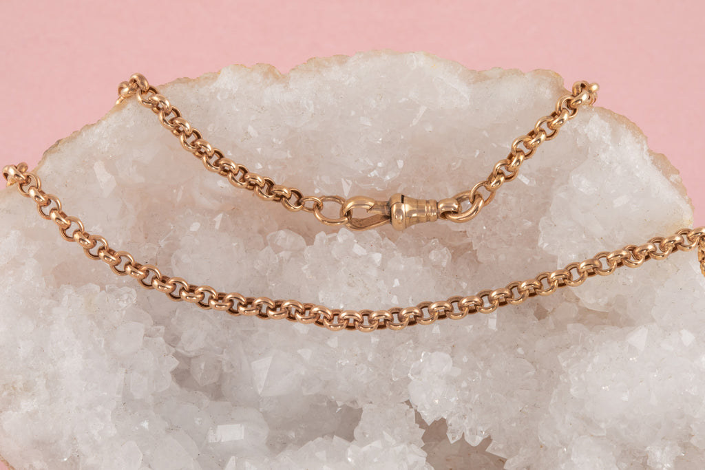 "Antique Rose Gold Belcher Chain, 18 & 1/4"" (8.6g)"
