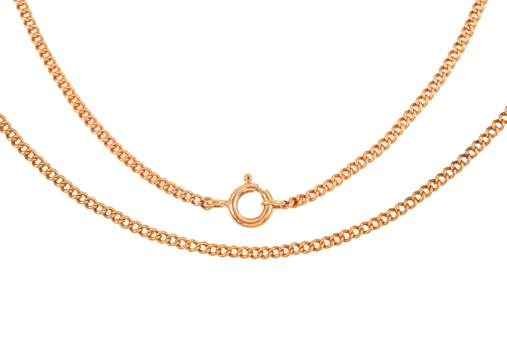 Edwardian Rose Gold Curb Chain, 19""