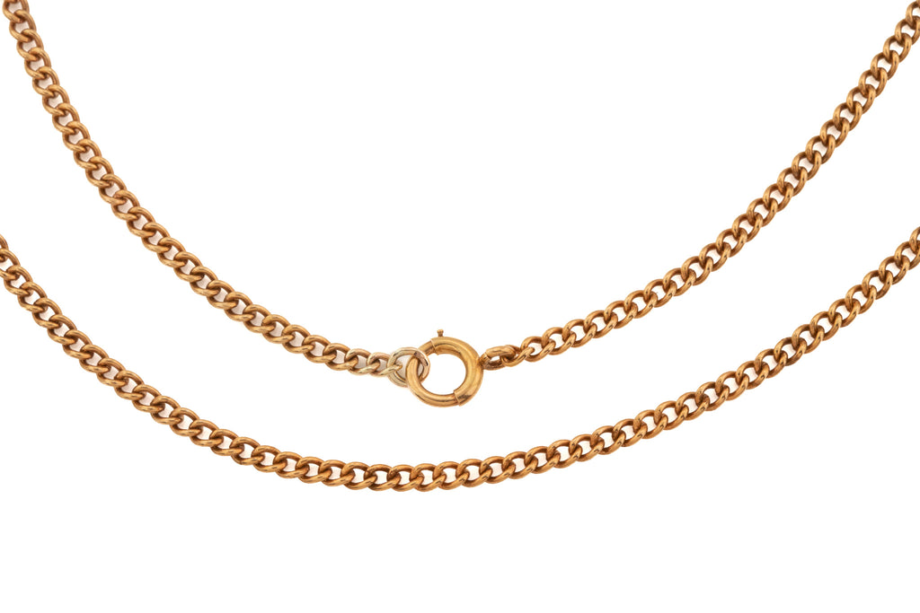 "Victorian 17.75"" Rose Gold Curb Chain, (7.3g)"