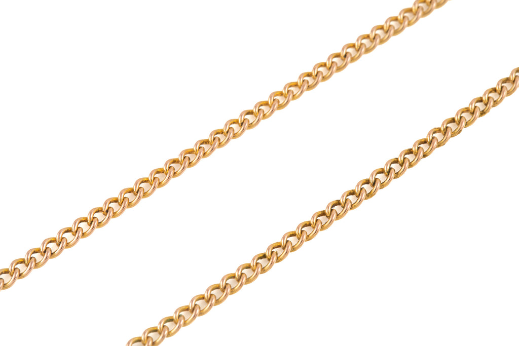 "Antique Gold Curb Link Chain, 21 & 1/2"" (8.1g)"