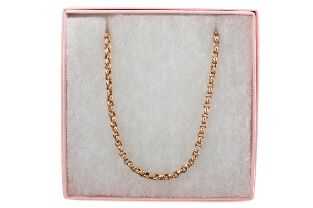 "Victorian Gold Fancy Belcher Chain, 21"" (14g)"