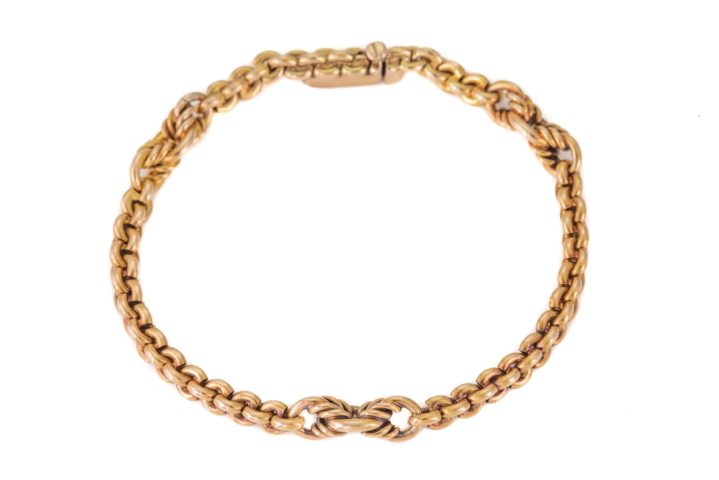 "Victorian 15ct Gold Chunky Bracelet, 7"" (12.8g)"