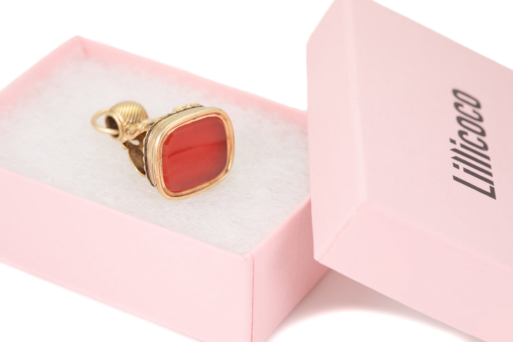 Victorian 15ct Gold Carnelian Fob