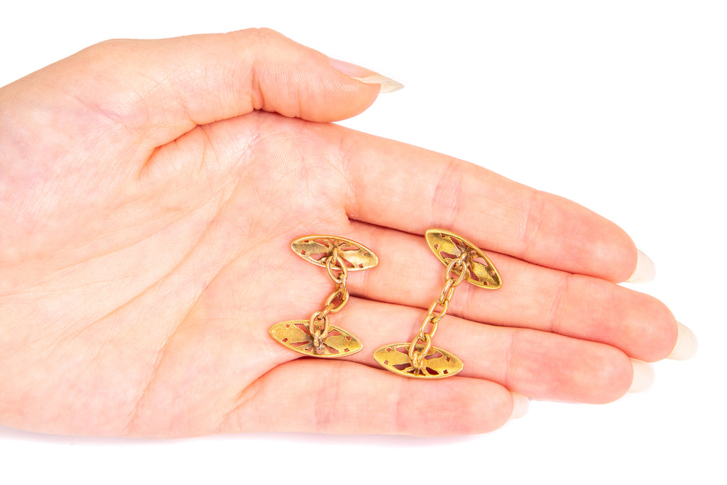 French Antique 18ct Gold Cufflinks
