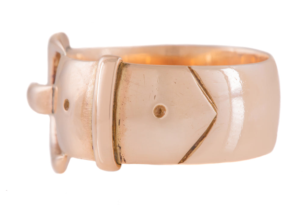 Antique Gold Smooth Buckle Ring, c.1918