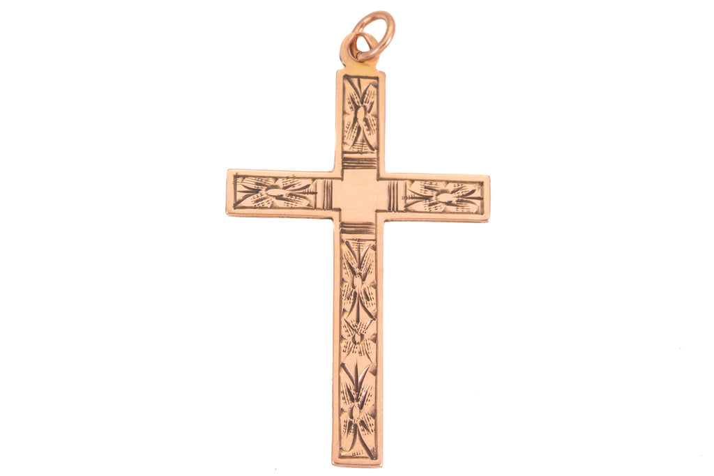 Antique Petite Gold Cross Pendant