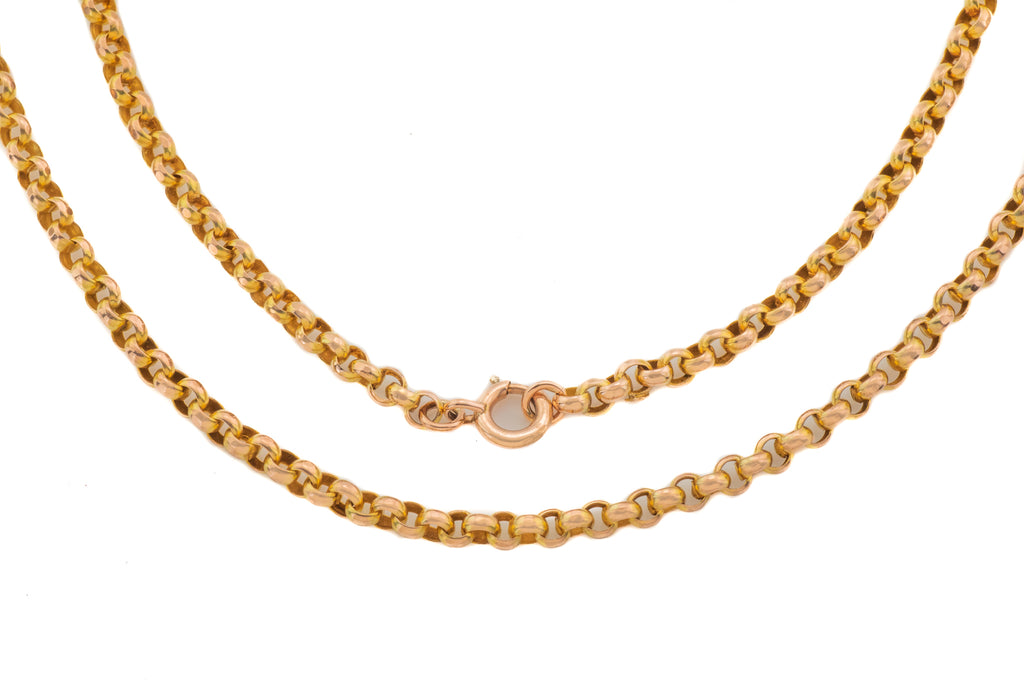 "Victorian Solid 9ct Gold Belcher Chain, 28 & 1/4"" (13.3g)"