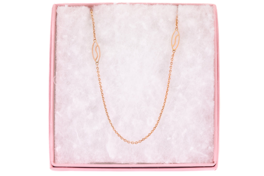 Antique Rose Gold Fancy Chain, 18 & 1/4""
