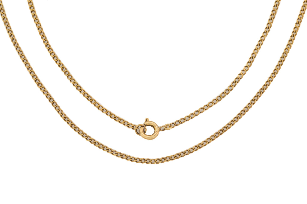"Solid 21.25"" 9ct Gold Curb Chain (3.5g)"