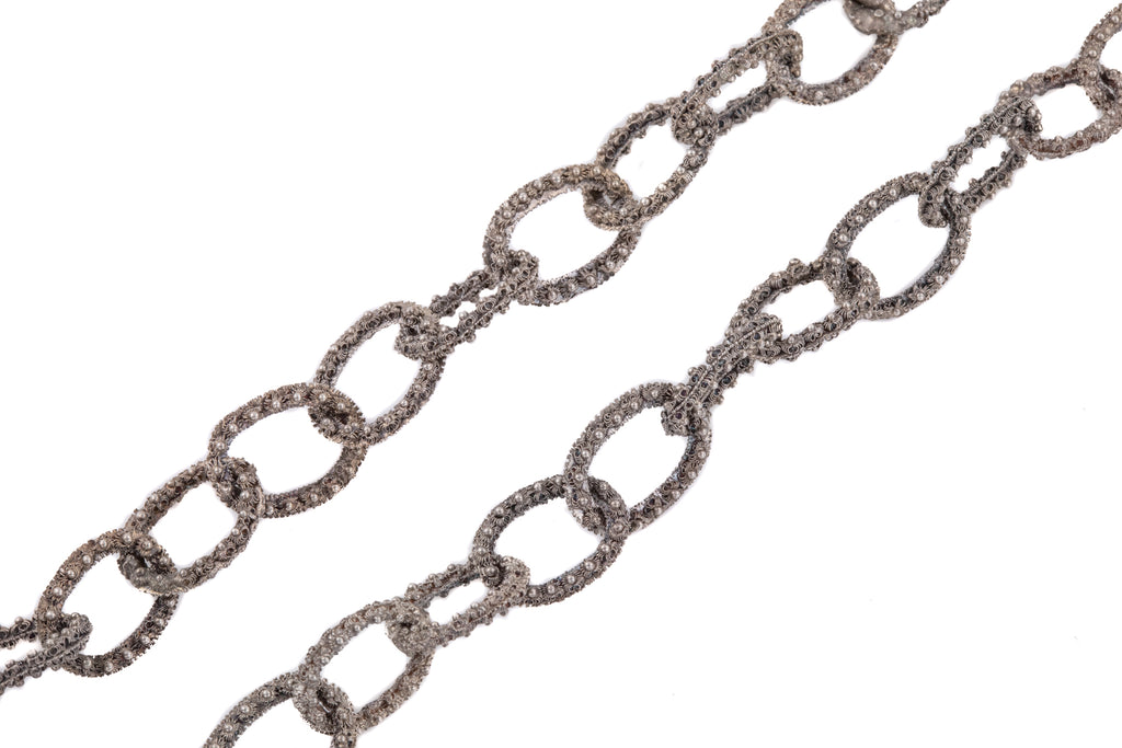 "Georgian Silver Chain Necklace, 21"" (33.3g)"