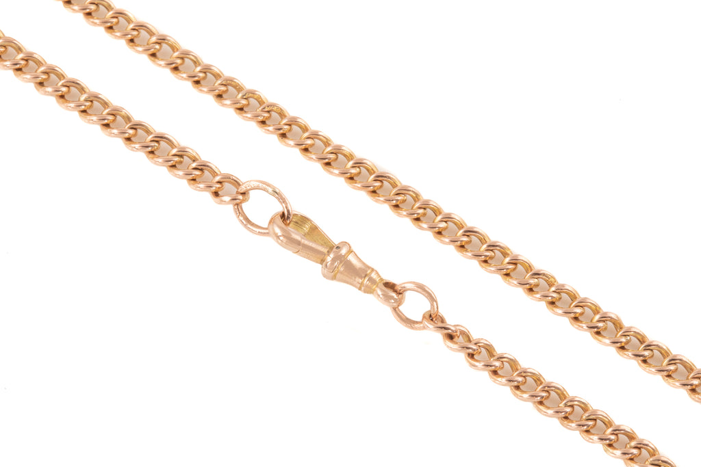 "Victorian Gold Albert Chain with Drop T-Bar, 18"" (35.3g)"