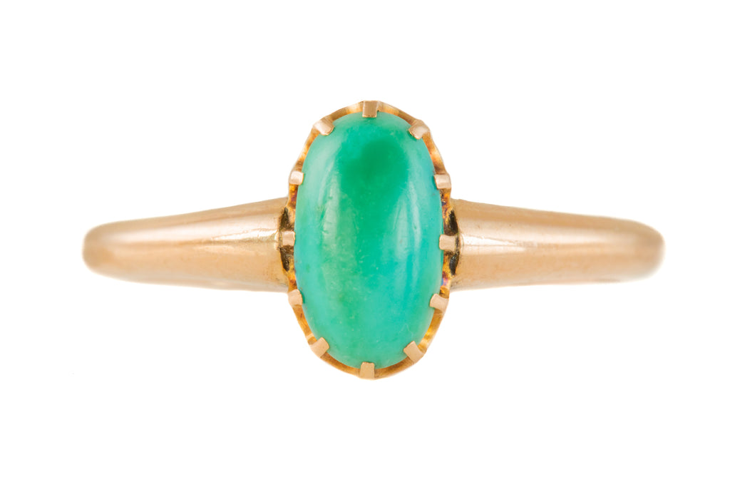 Victorian Gold Turquoise Ring, (0.60ct)