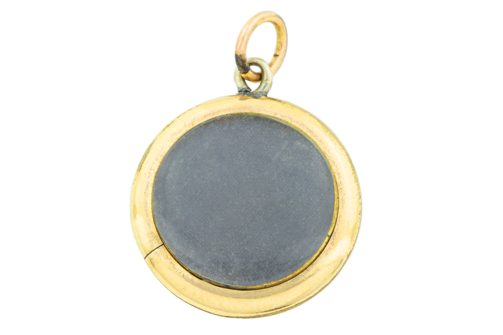 Victorian 9ct Gold Mourning Locket c.1850