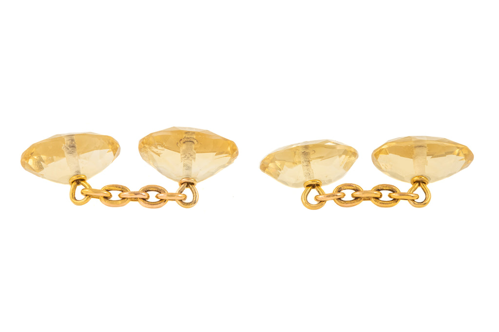 Antique Gold Citrine Cufflinks (26.00ct)