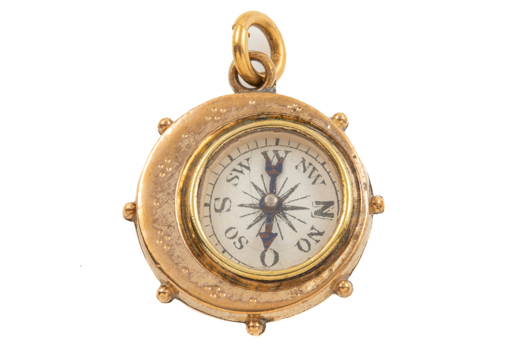 "Edwardian ""Stars and Moon"" Compass Pendant"