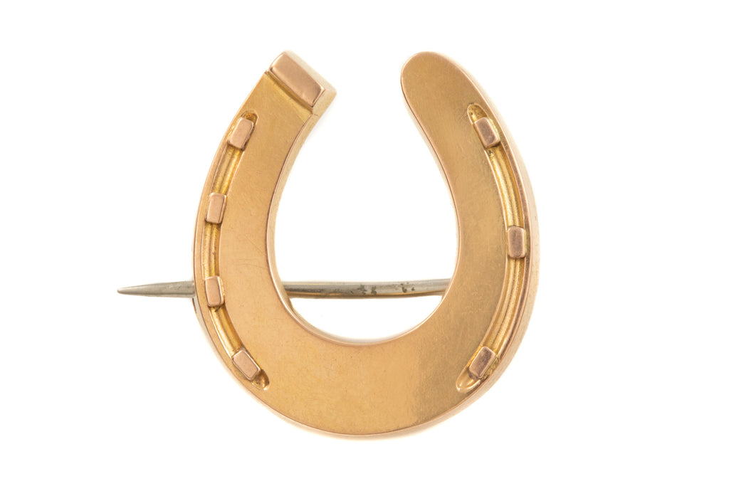 Victorian 15ct Gold Horseshoe Brooch