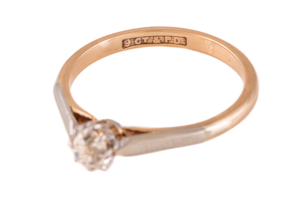 Art Deco Gold Diamond Engagement Ring (0.22ct)