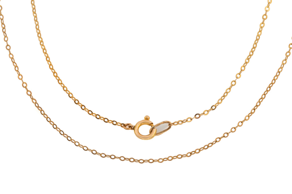 "Antique Gold Trace Chain, 21 & 1/4"" (1.5g)"
