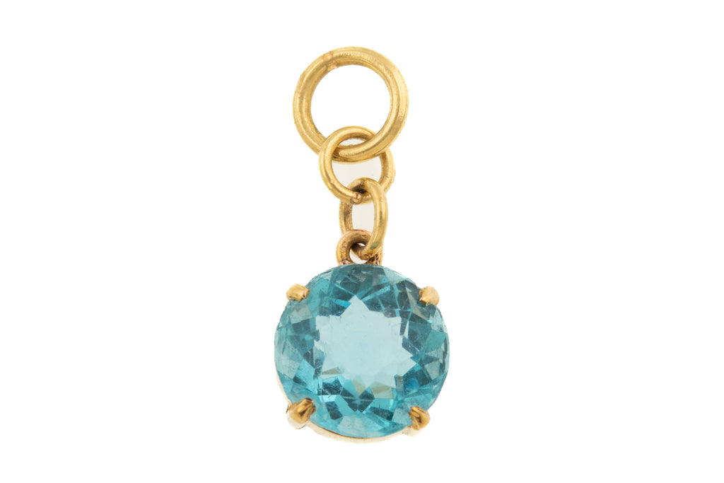 15ct Gold Victorian Zircon Paste Charm